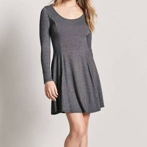 Forever 21 Marled Swing Dress Charcoal